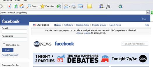 Facebook is sponsoring debates now?