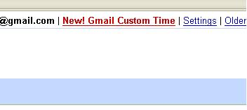 Gmail Custom Time