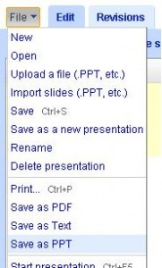 Export Google Presentations to PowerPoint