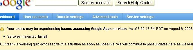 Google Apps Issues